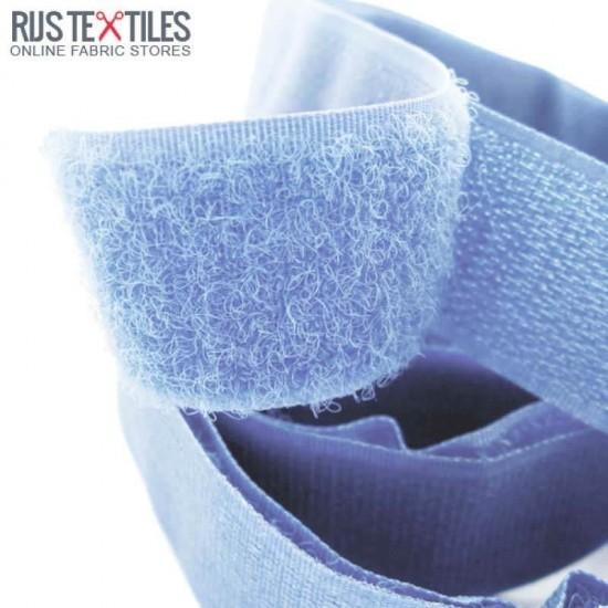 Sew In Velcro Ribbon Light Blue 25mm (Per Meter)