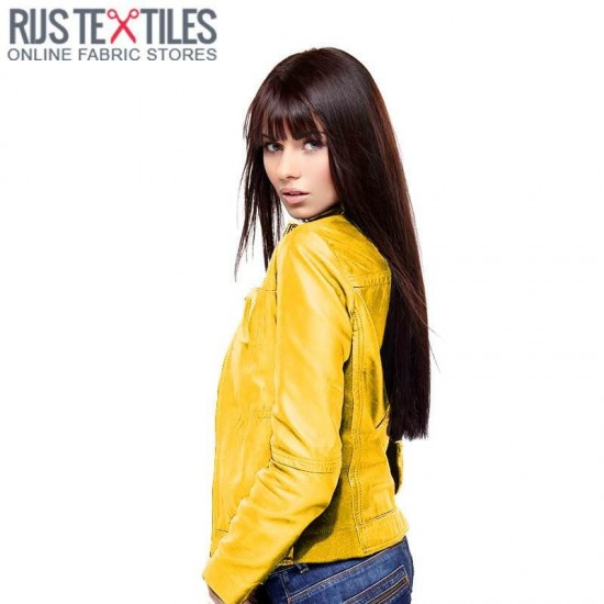 Leather Fabric Yellow