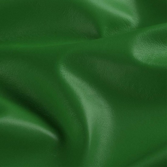 Leather Fabric Grass Green