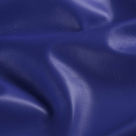 Leather Fabric Cobalt