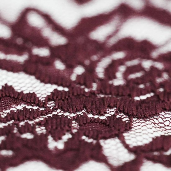 Lace Fabric Stretch Bordeaux