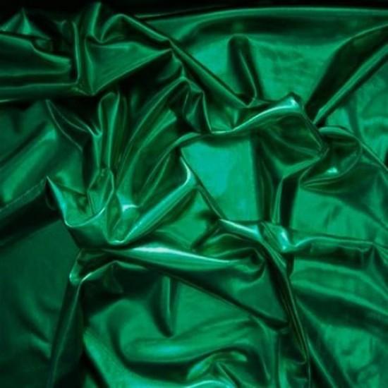 Tessuto Lamè Stretch Verde Erba