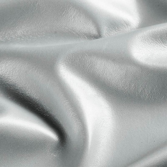 Tessuto Finta Pelle Argento