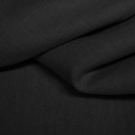 Linen Fabric Black