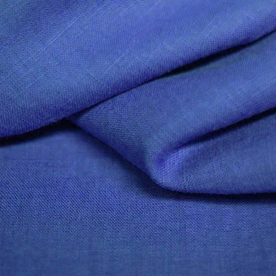 Linen Fabric Cobalt