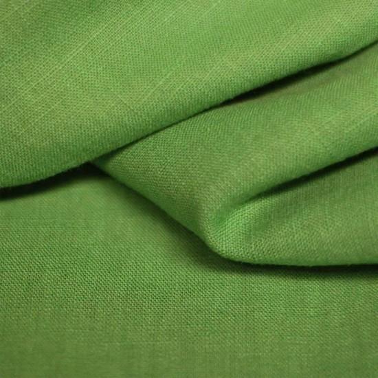 Linen Fabric Grass Green