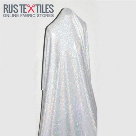 Hologram Fabric Leaf White