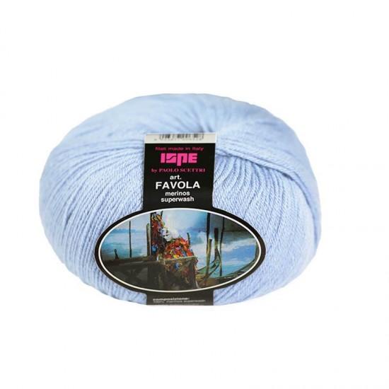 Baby Merino Superwash Knitting Yarn ISPE Needle Size 2 - 2,5 Light Blue