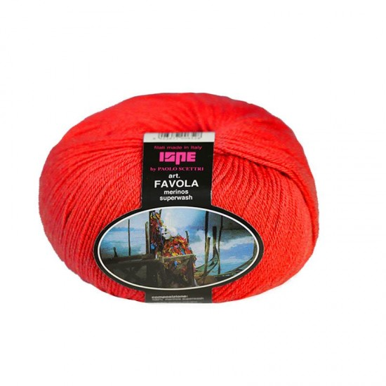 Baby Merino Superwash Knitting Yarn ISPE Needle Size 2 - 2,5 Red