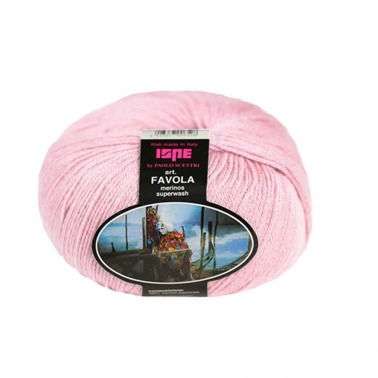 Baby Merino Superwash Knitting Yarn ISPE Needle Size 2 - 2,5 Pink