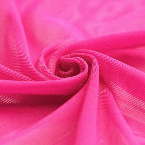 Mesh Fabric Stretch Fluor Pink