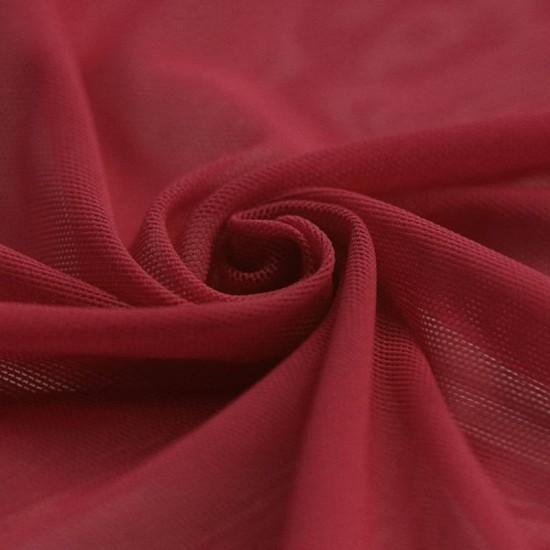 Mesh Fabric Stretch Dark Red