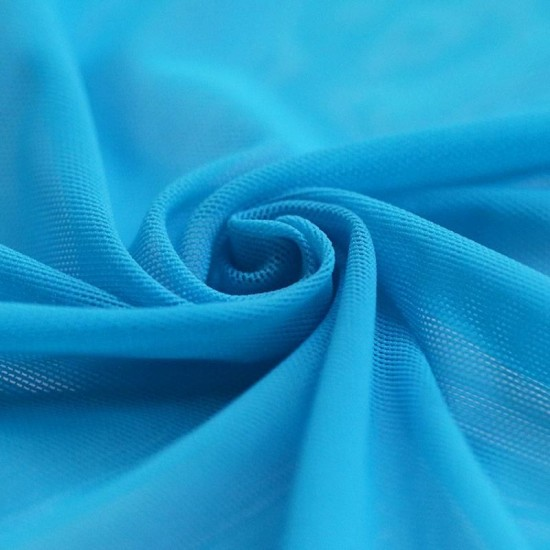 Mesh Fabric Stretch Aqua