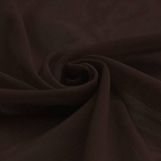 Mesh Fabric Stretch Brown