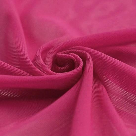 Mesh Fabric Stretch Fuchsia