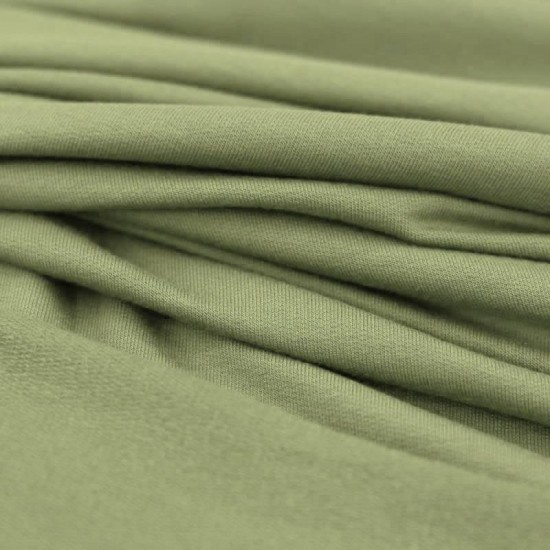 Modal French Terry Fabric Olive