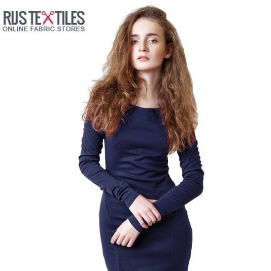 Modal French Terry Fabric Navy