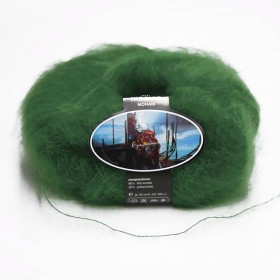 Mohair Yarn ISPE Needle Size 3,5 - 4 Dark Green