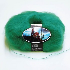 Mohair Yarn ISPE Needle Size 3,5 - 4 Emerald Green