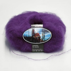 Mohair Yarn ISPE Needle Size 3,5 - 4 Purple
