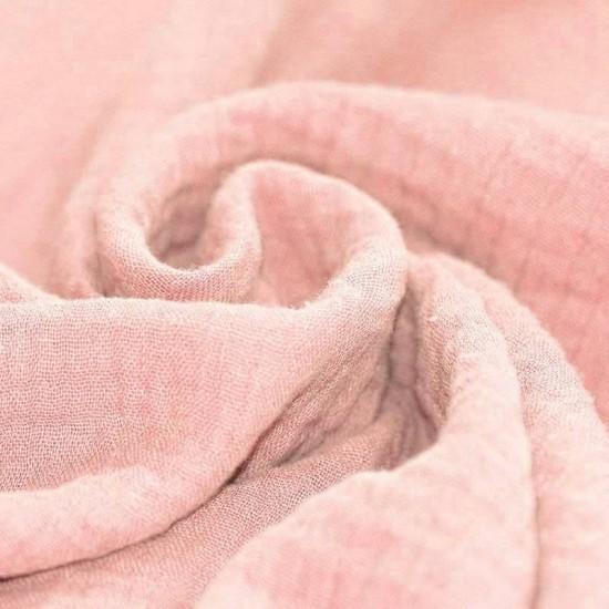 0590cf98146 Double gauze fabric pink per meter. Buy online!