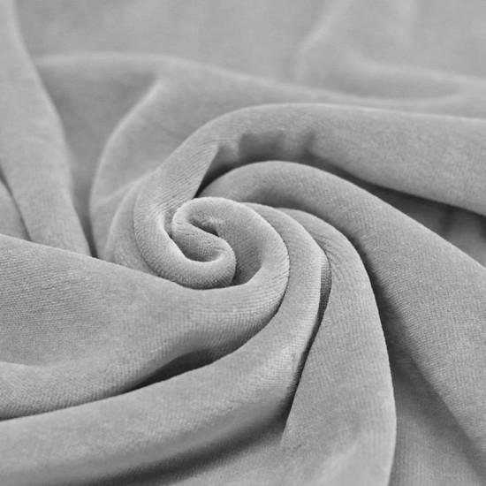 Nicky Velour Fabric Light Grey