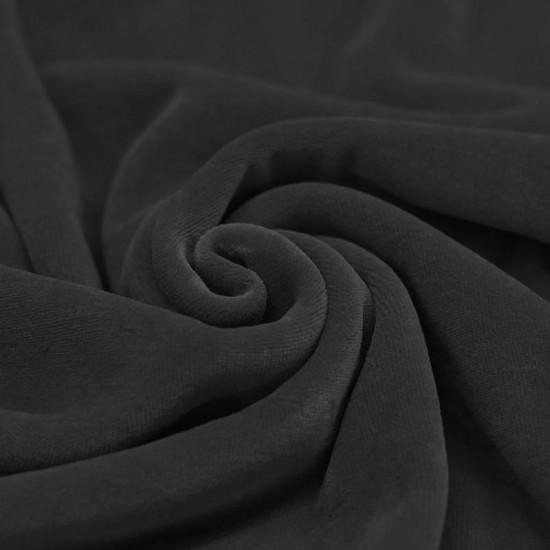 Nicky Velour Fabric Dark Grey