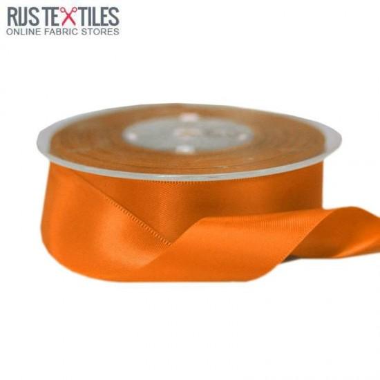 Satin Ribbon 25mm Orange
