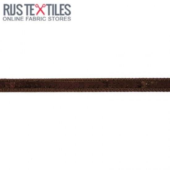 Paillettenband Bruin 10mm