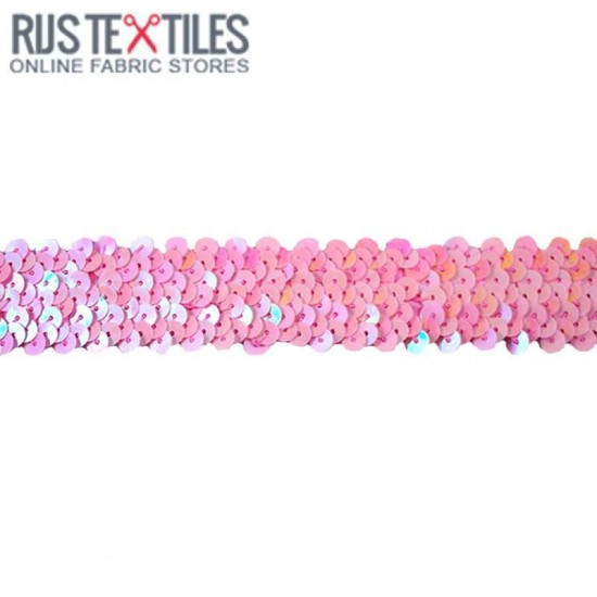 Paillettenband Rose 30mm