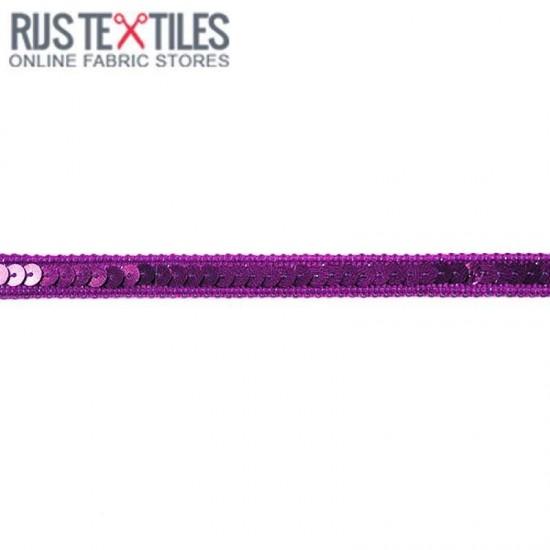Nastro Di Paillettes Viola 10mm