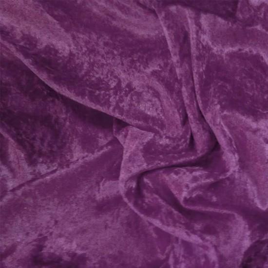 Panne Velvet Fabric Eggplant