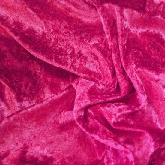 Panne Velvet Fabric Fuchsia