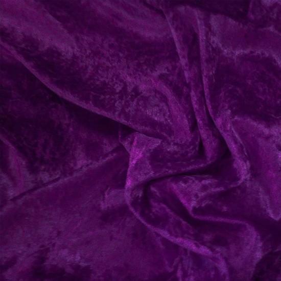 Panne Velvet Fabric Purple