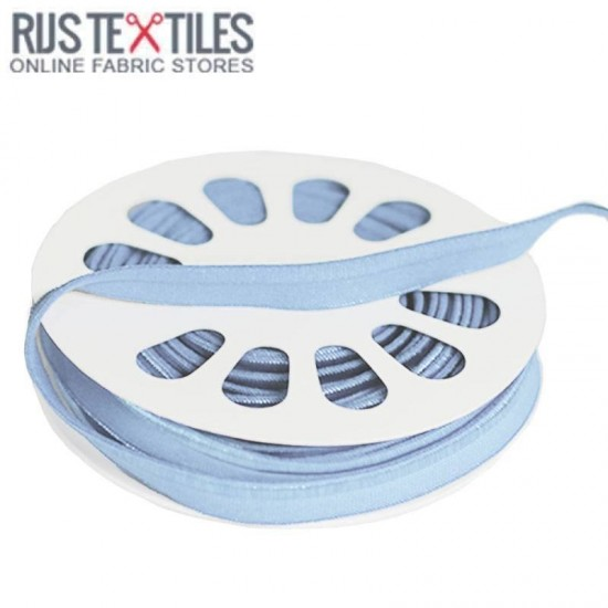 Elastic Piping Tape Light Blue 8mm