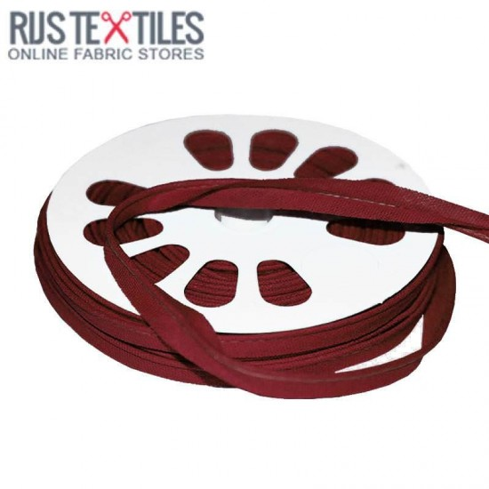 Cotton Piping Tape Bordeaux 10mm