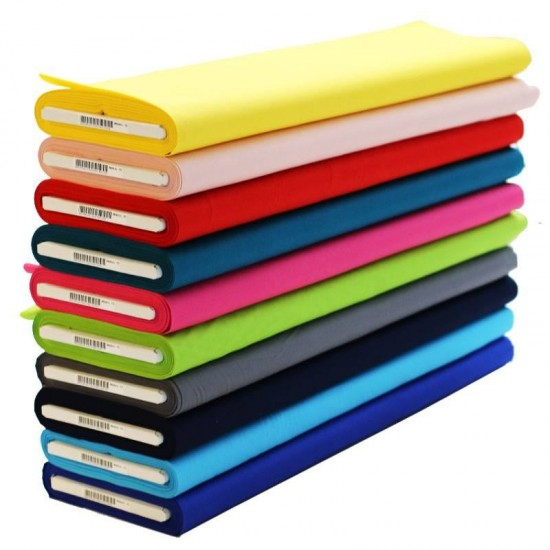 0516360d612 Buy Poplin Cotton Fabric 10 Colors 15 Meters Package online at Rijs  Textiles.