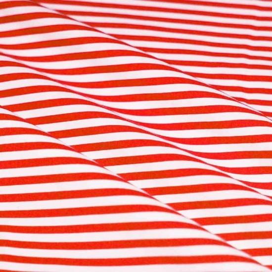 Katoenen Streep Rood Wit 5mm