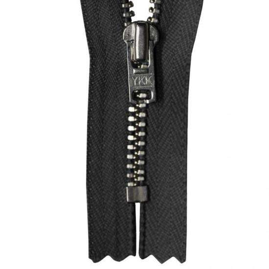 Zipper Black 12CM Metal