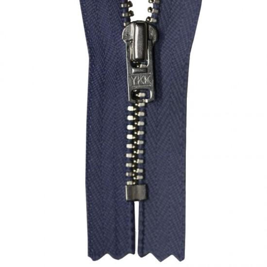 Zipper Navy 15CM Metal