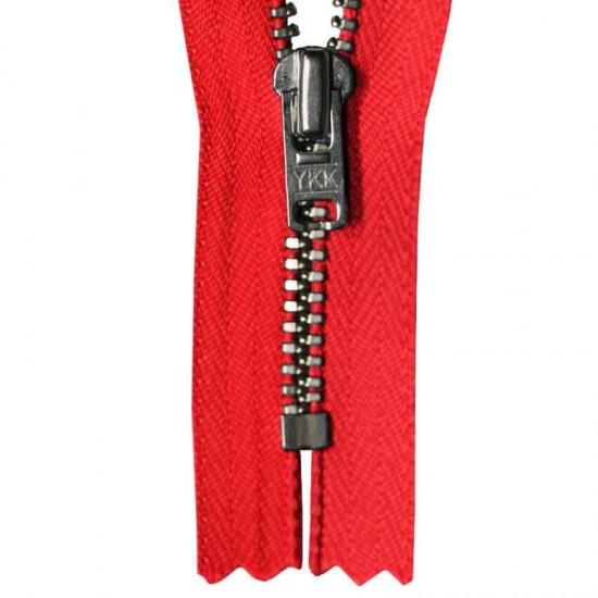 Zipper Red 12CM Metal