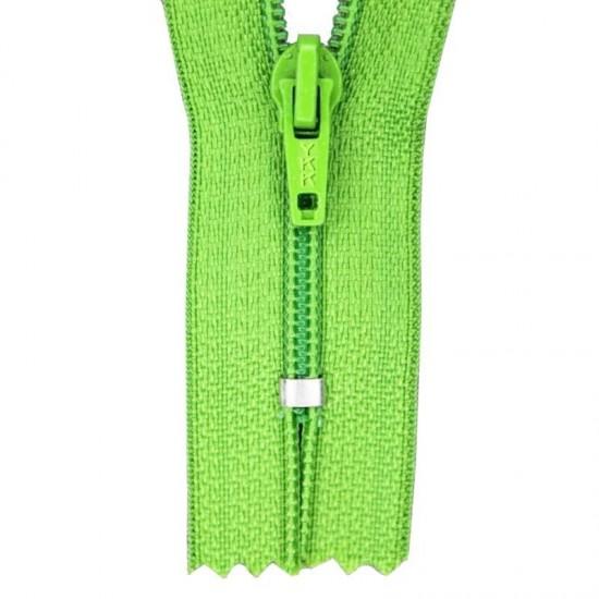 Zipper YKK Lime 45CM Nylon