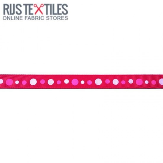 Grosgrain Ribbon - Retro Fuchsia 15mm