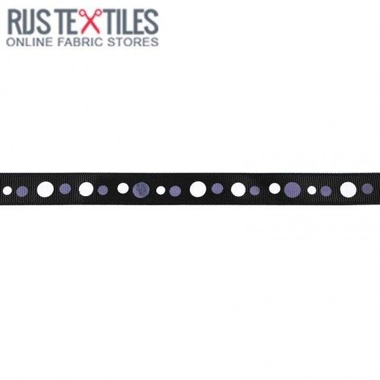 Grosgrain Ribbon - Retro Black 15mm