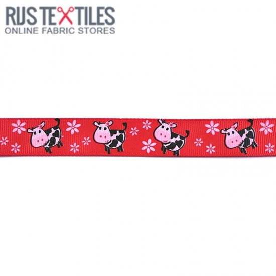 Grosgrain Ribbon - Cow Red 20mm