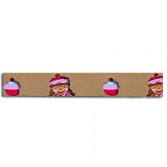Childrens Ribbon - Cupcake With Girl 15mm