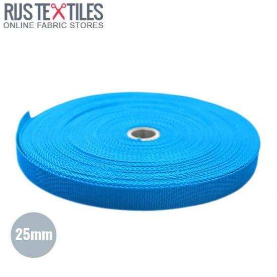 Tassenband Aqua 25mm (Per Meter)