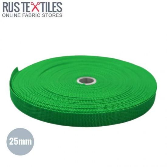 Sangle Polypropylene Vert 25mm (au Mètre)