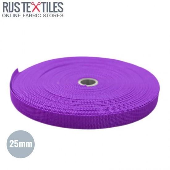 Polypropylene Webbing Purple 25mm (Per Meter)