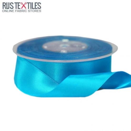 Satin Ribbon 25mm Aqua